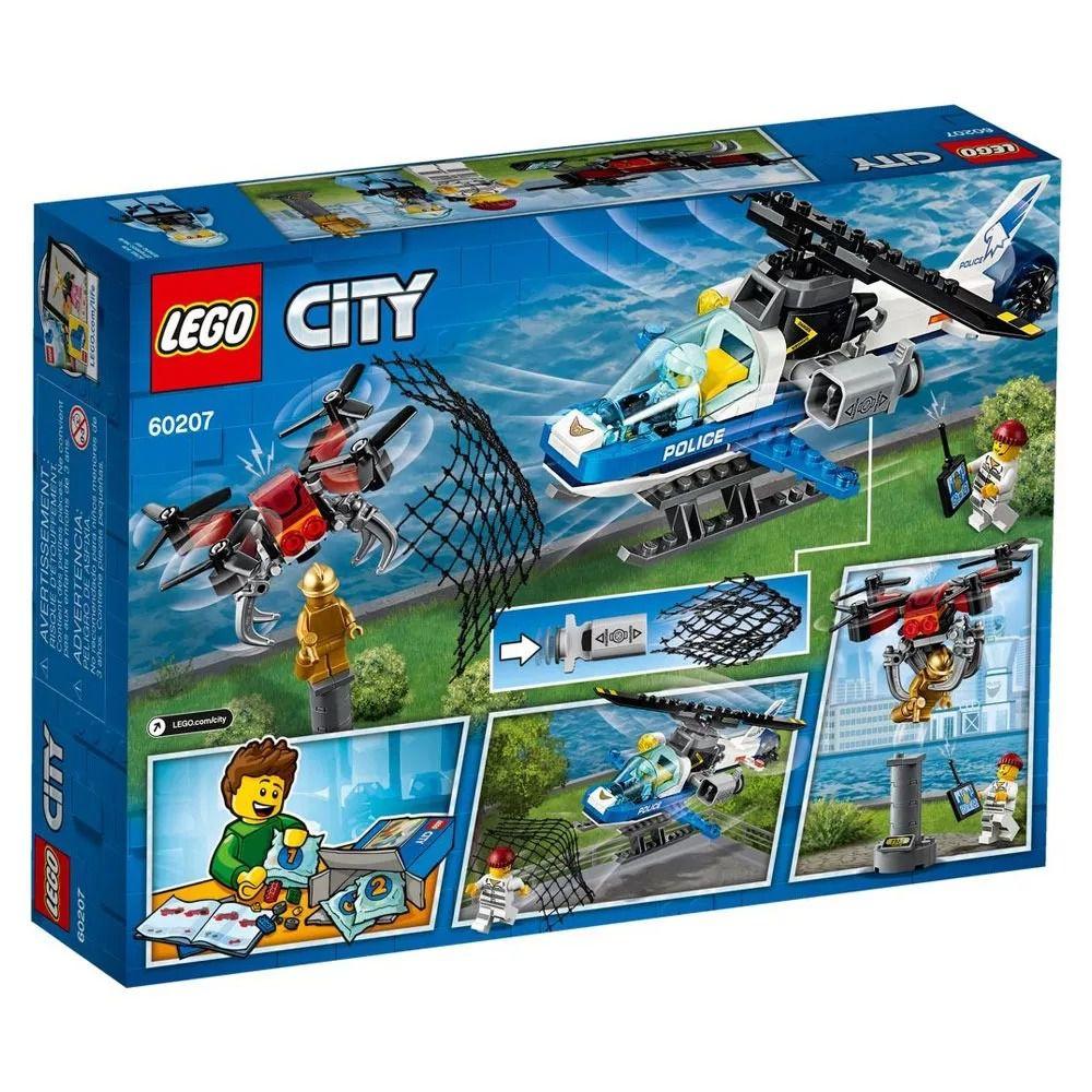 Lego 60207 City - Patrulha Aérea Perseguição Com Drone - 192 peças  - Doce Diversão