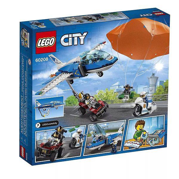 Lego 60208 City - Polícia Aérea - Detenção de Paraquedas  - 218 peças  - Doce Diversão