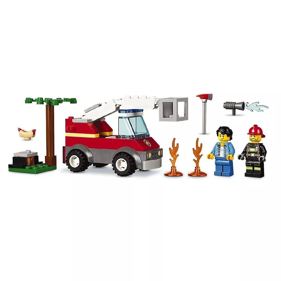 Lego 60212 City Bombeiro Extinção de Fogo No Churrasco – 64 peças  - Doce Diversão