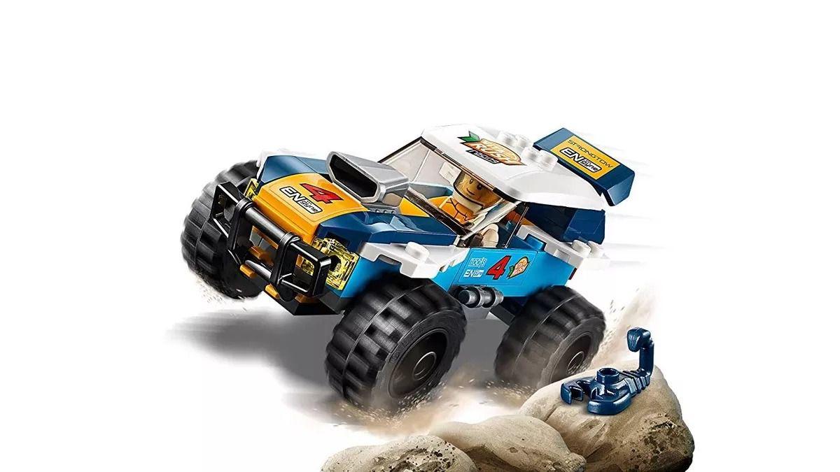Lego 60218 City Carro de Corrida do Rali do Deserto -75 peças  - Doce Diversão