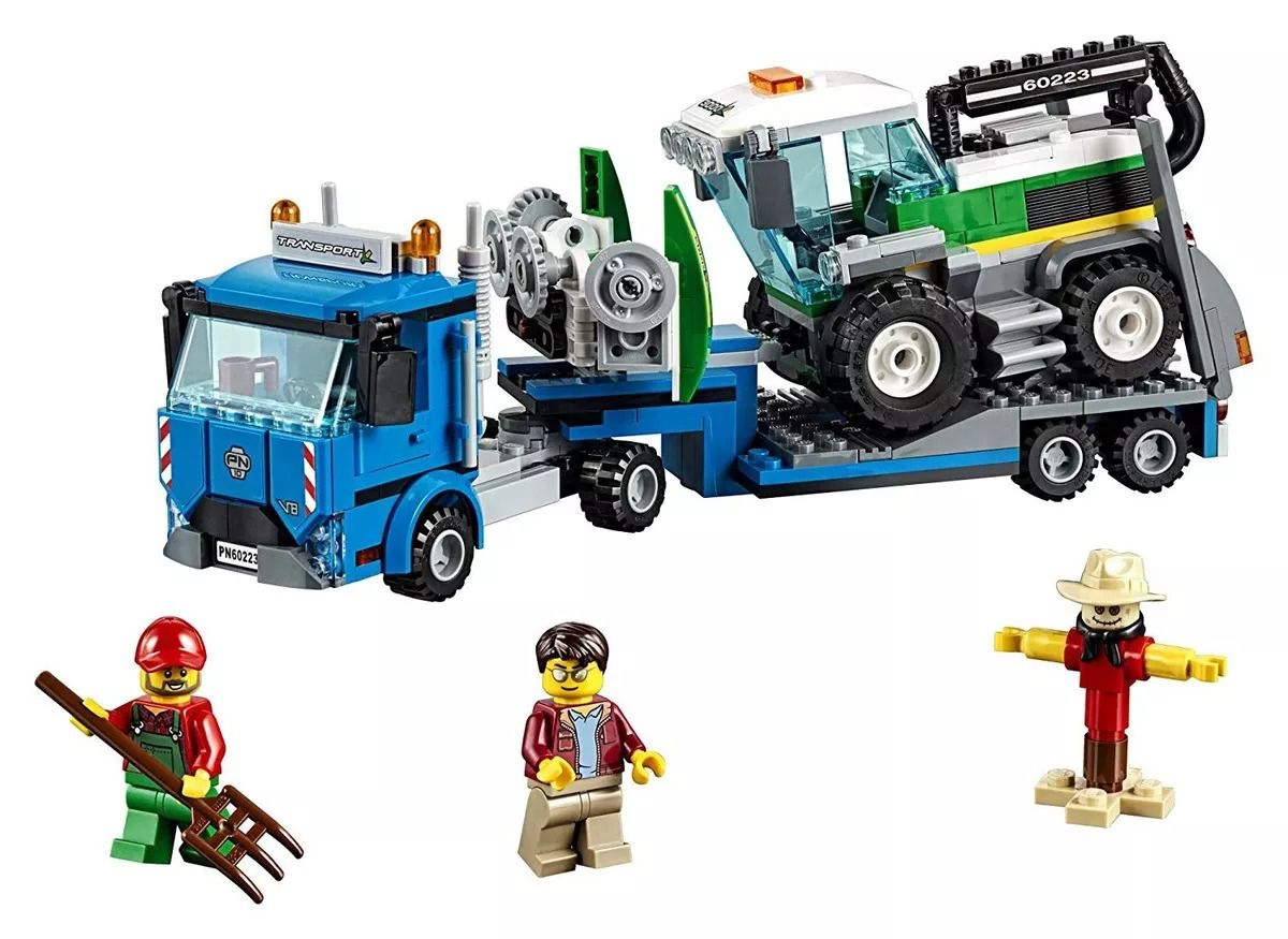 Lego 60223 City - Caminhão Transporte de Colheitadeira  -358 peças  - Doce Diversão