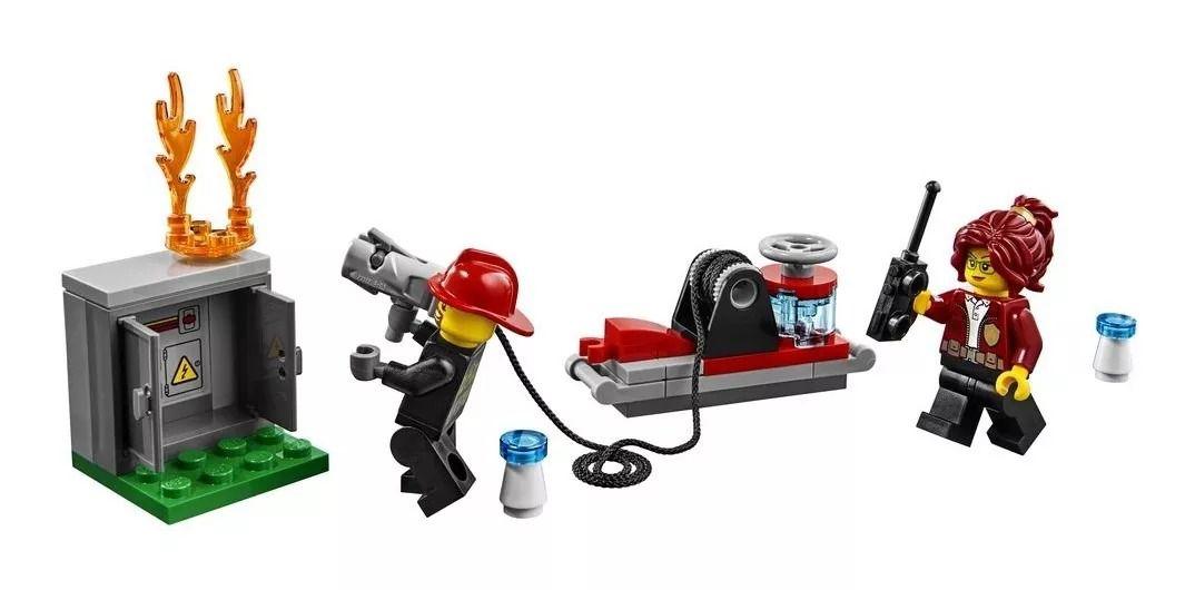 Lego 60231 City Caminhão Do Chefe dos Bombeiros- 201 peças  - Doce Diversão