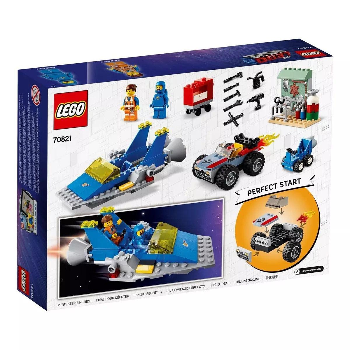Lego 70821 Movie - O Filme 2 - Oficina Constroi E Conserta De Emmet E Benny – 117 peças  - Doce Diversão