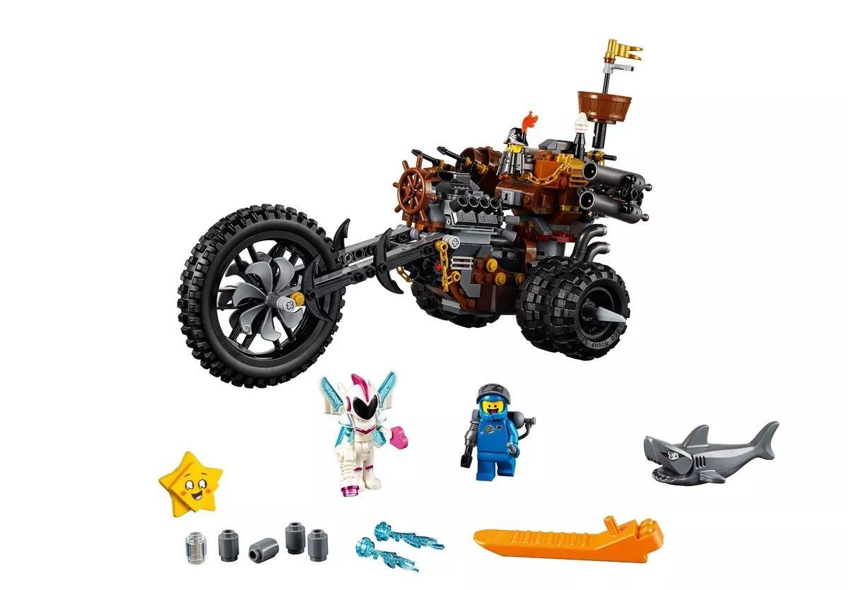 Lego 70834 Movie 2 - Triciclo Motorizado Heavy Metal Barba Ferro – 461 peças  - Doce Diversão