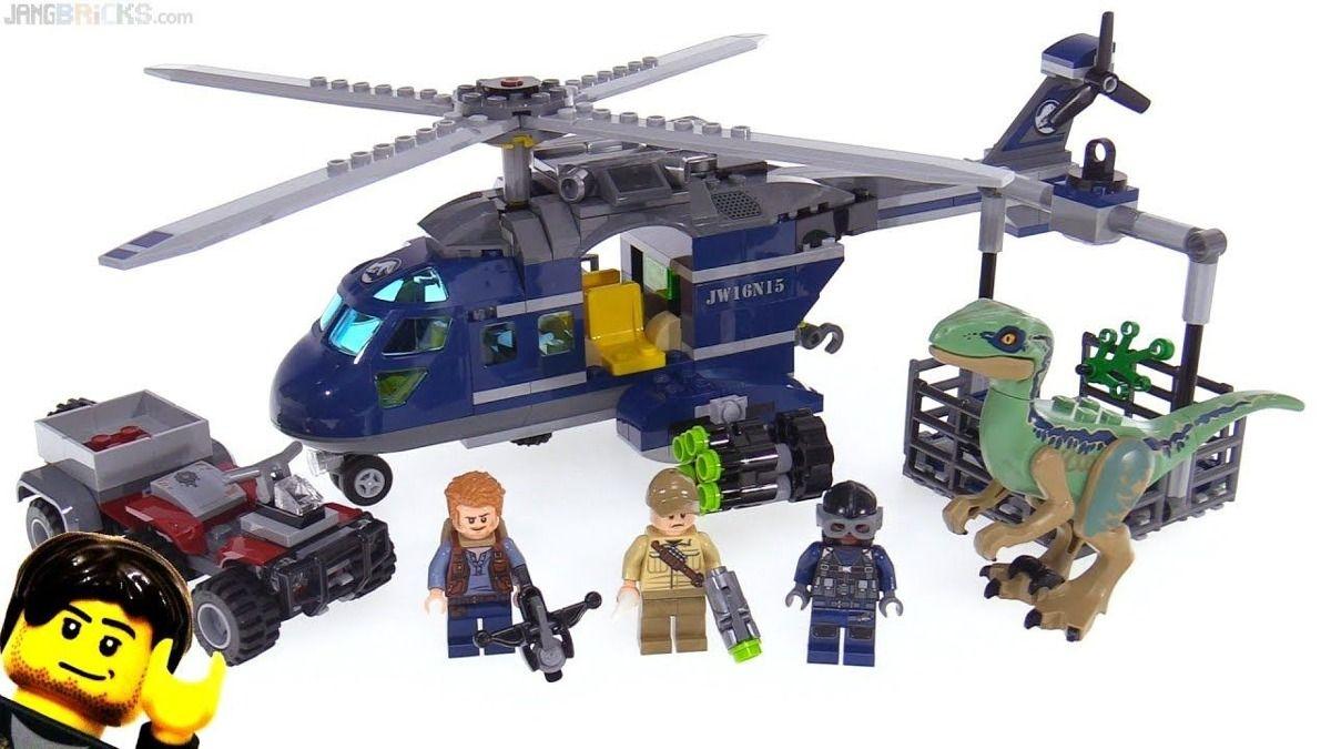Lego 75928 Jurrasic World - Perseguição de Helicóptero de Blue - 397 peças  - Doce Diversão