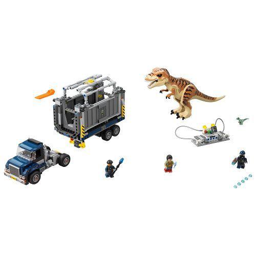 Lego 75933 Jurrasic World Transporte de T-Rex – 609 peças  - Doce Diversão
