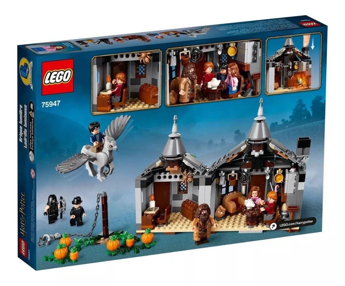Lego 75947 Harry Potter - Cabana de Hagrid: O Resgate de Buckbeak Hipogrifo – 496 peças  - Doce Diversão