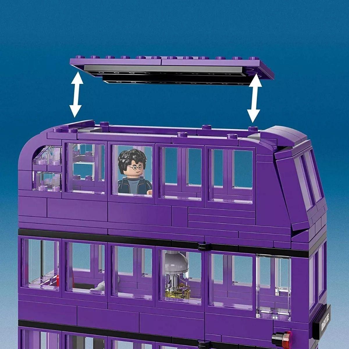 Lego 75957 Harry Potter - Nôitibus Andante – Ônibus Roxo Tres Andares – 403 peças  - Doce Diversão