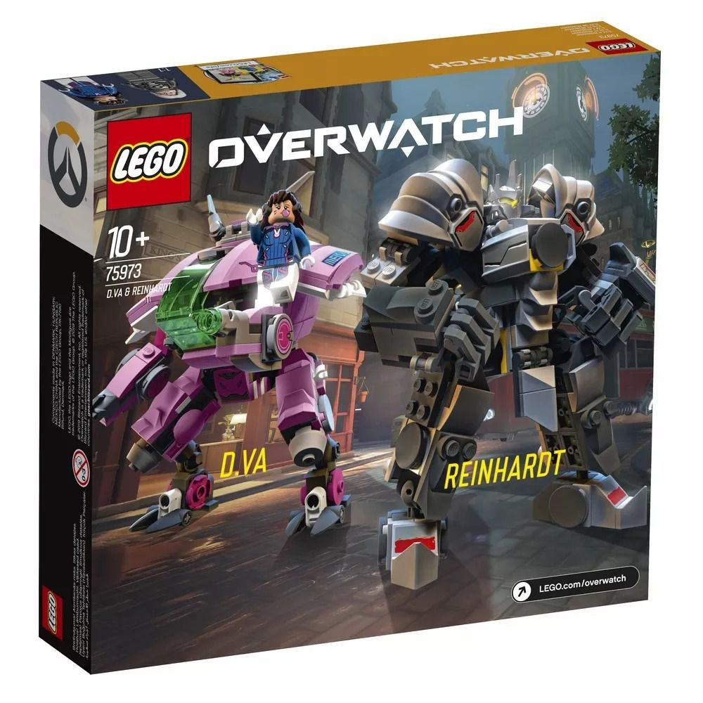 Lego 75973 Overwatch - D.VA E Reinhardt – 455 peças  - Doce Diversão
