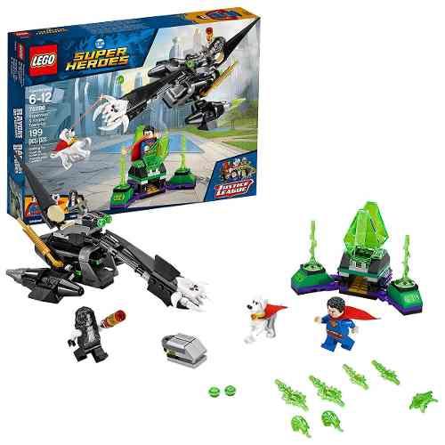 Lego 76096 Super Heroes Liga da Justiça - Superman & Krypto – 199 peças  - Doce Diversão