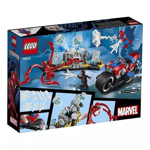 Lego 76113 Heroes - Resgate de Motocicleta do Homem Aranha – 235 peças  - Doce Diversão