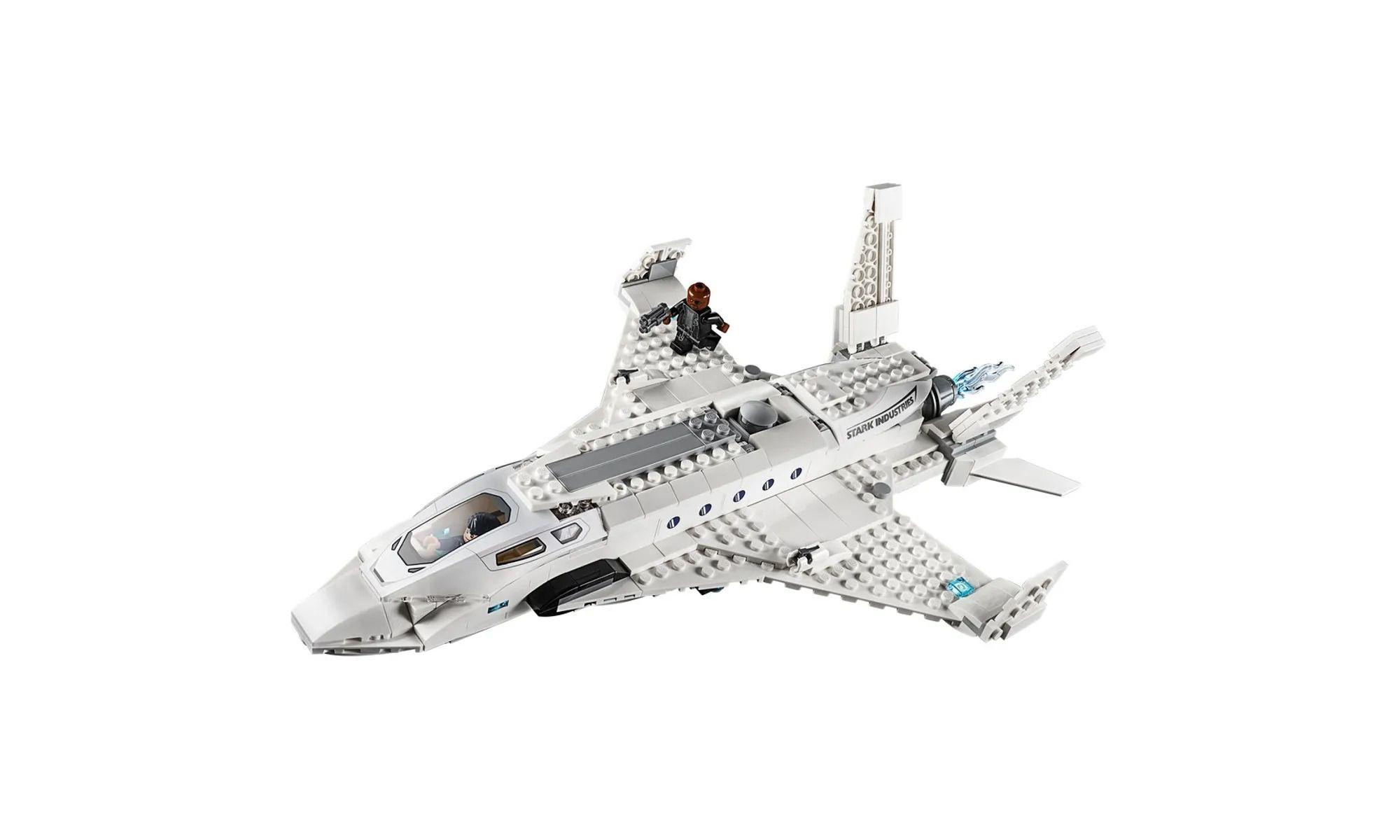 Lego 76130 Spider-Man Longe de Casa – Jato Stark Ataque de Drones – 504 peças  - Doce Diversão