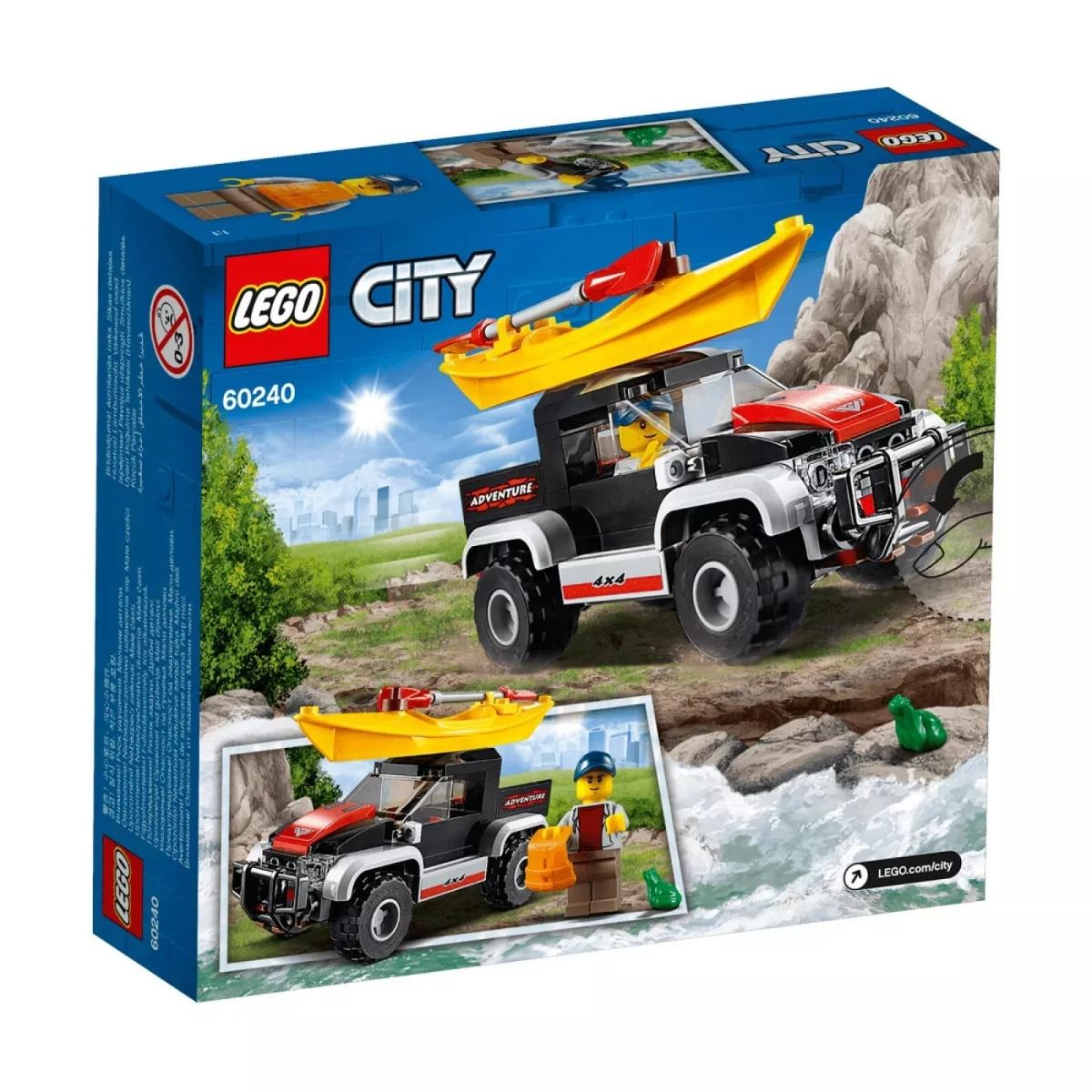 Lego City 60240 Aventura Jipe com Caiaque- 84 peças  - Doce Diversão