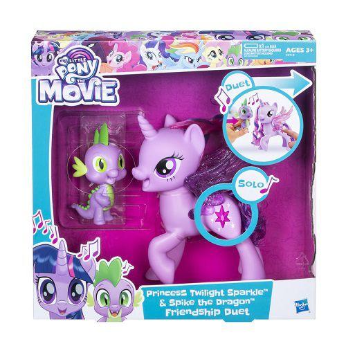 Little Pony Twilight Sparkle e Spike Amigos Cantam Juntos Hasbro  - Doce Diversão