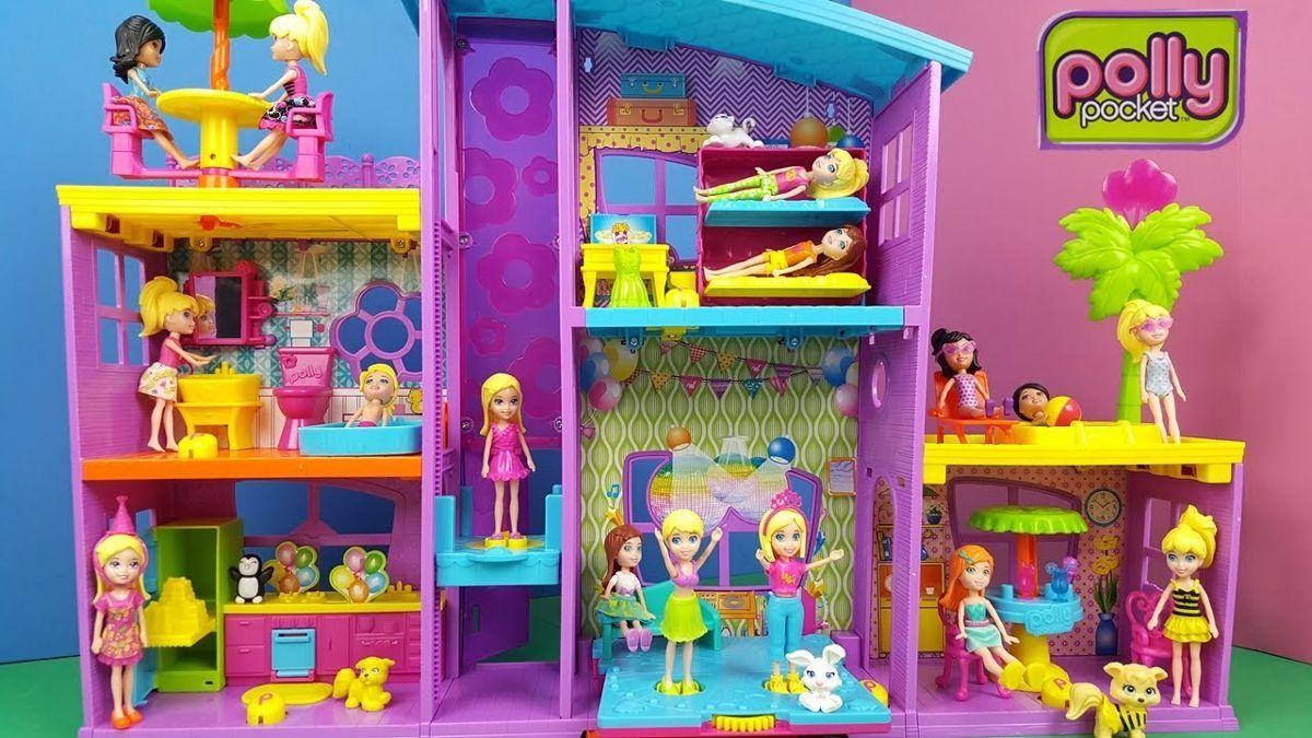 Mega Casa de Surpresas da Polly Pocket - Mattel  - Doce Diversão