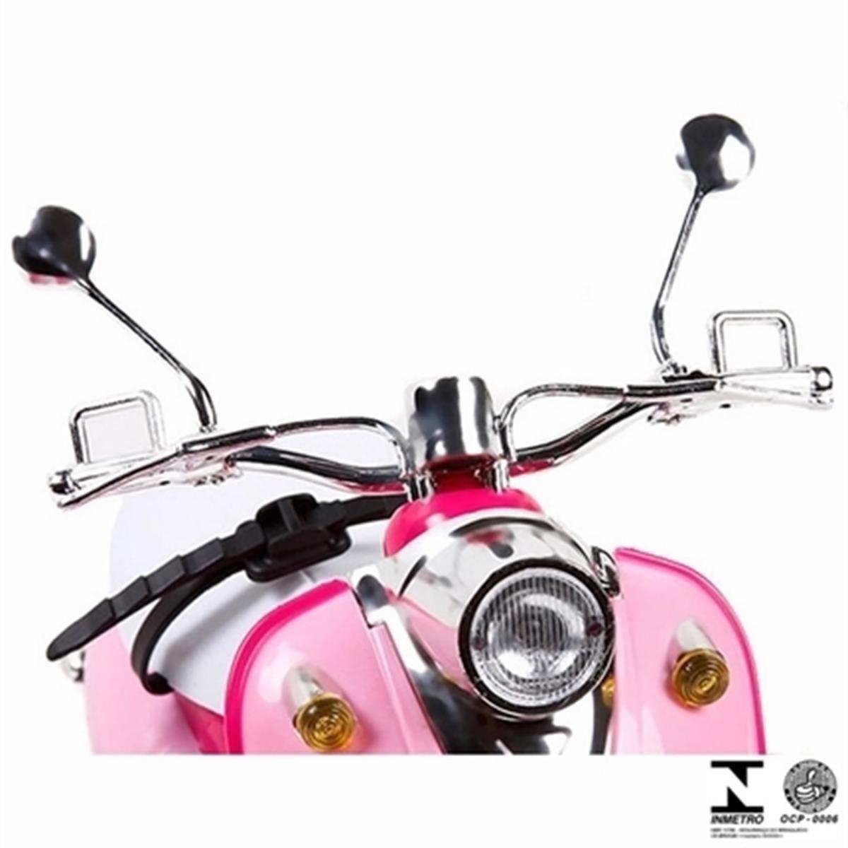 Moto Dreamcycle Barbie Controle Remoto - 7 Funções e Bateria Recarregavel   – Candide  - Doce Diversão