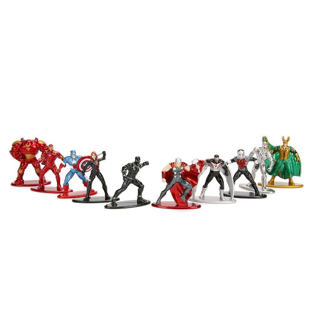 Nano Metal Marvel Avengers Vingadores kit Com 10 DTC  - Doce Diversão