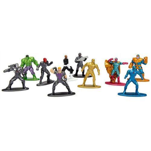 Nano Metal Marvel Avengers Vingadores Pack Com 10 DTC  - Doce Diversão