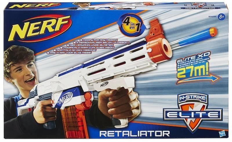 Nerf Elite N Strike Retaliator – lançador 4 em 1 - Hasbro  - Doce Diversão