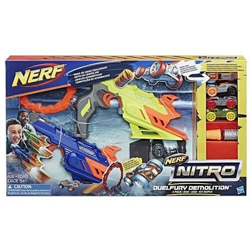 Nerf Nitro Duelfury Demolition –2  lançadores Carros - Hasbro  - Doce Diversão