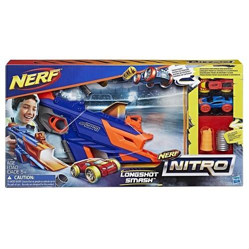 Nerf Nitro Longshot Smash – lançador com 2 carros - Hasbro  - Doce Diversão