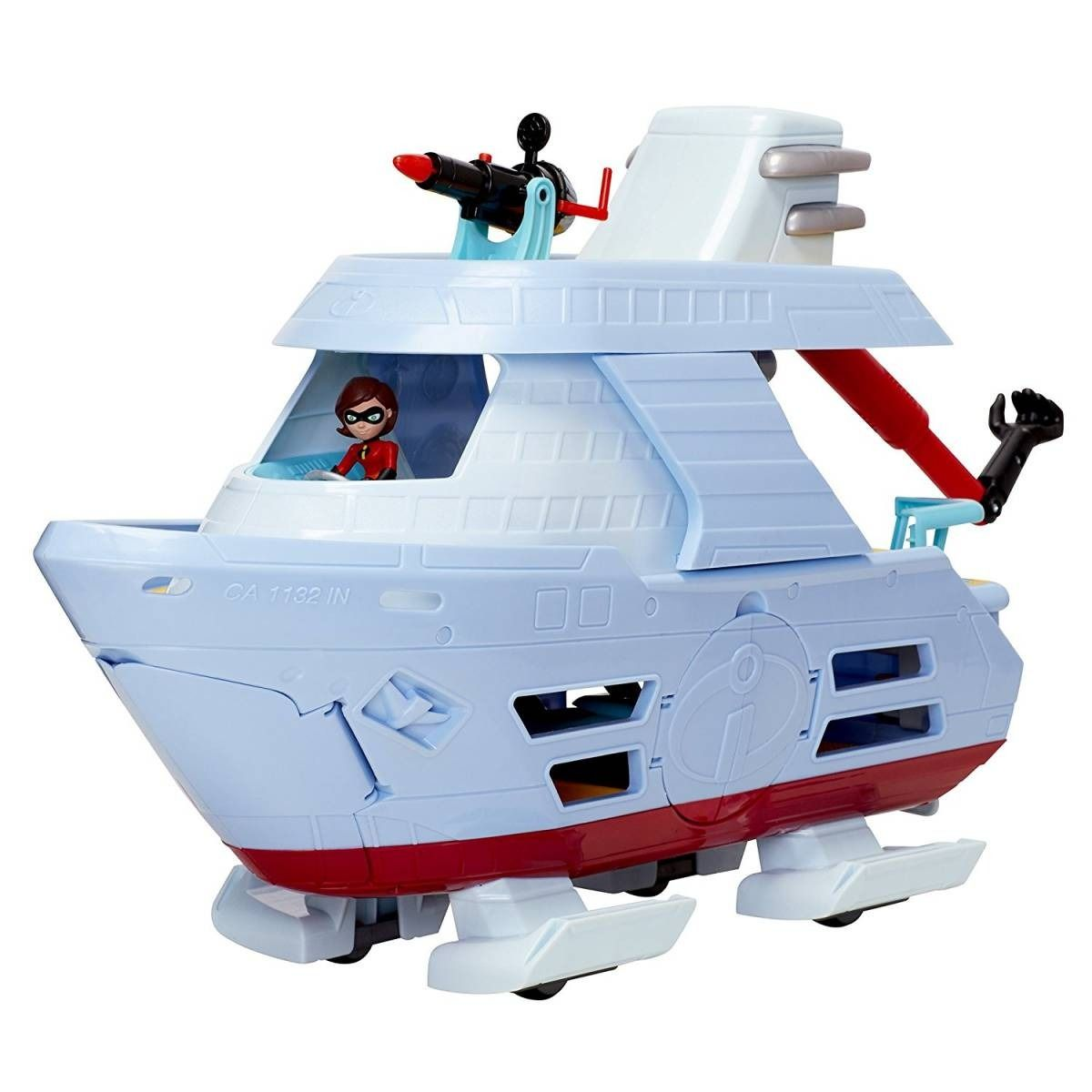 Os Incríveis 2 - Barco Hydroliner 43cm C/ Mulher Elástica Sunny   - Doce Diversão