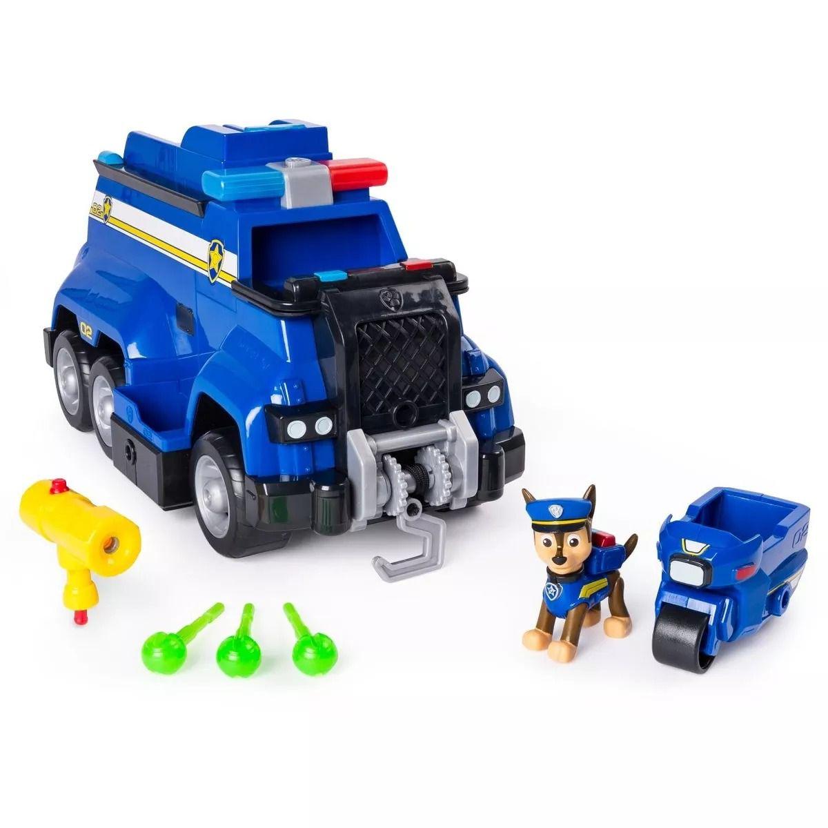 Patrulha Canina Carro de Polícia Resgate Extremo Chase 32 cm Com som e luz - Sunny  - Doce Diversão