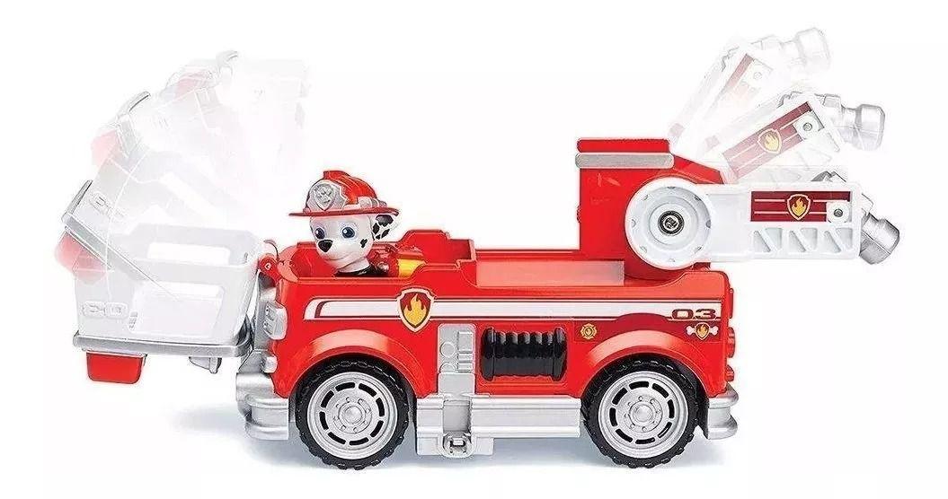 Patrulha Canina Ultimate Resgate Extremo - Marshall Fire Veículo com Figura - Sunny   - Doce Diversão