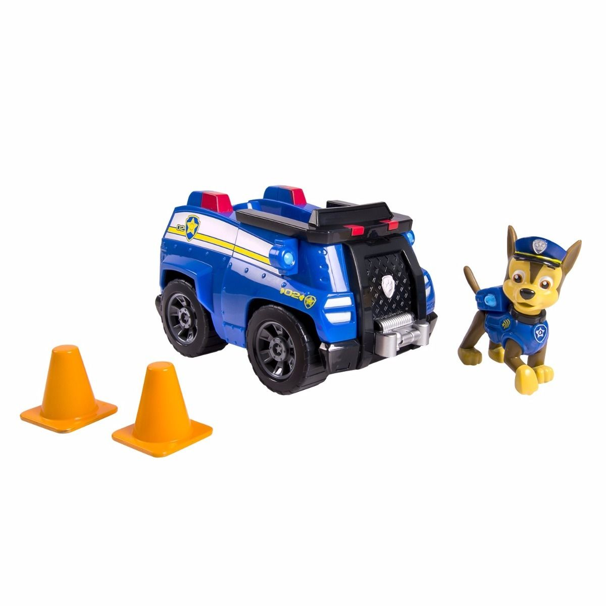 Patrulha Canina - Veiculo + Figura + cone - Chases Cruiser - Sunny  - Doce Diversão