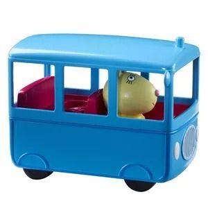 Peppa Pig Escolinha E Ônibus Escolar + 3 bonecos - Dtc   - Doce Diversão