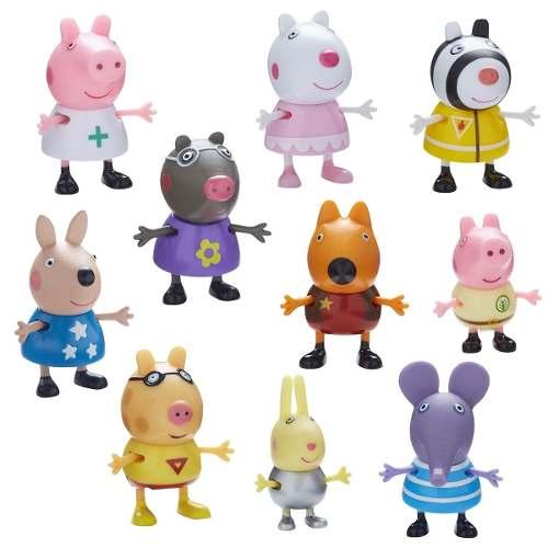 Peppa Pig Fantasias Conjunto Com 10 Figuras Articuladas Dtc   - Doce Diversão