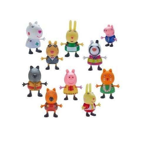 Peppa Pig Fantasias Conjunto Com 10 Figuras Articuladas Serie 1 Dtc   - Doce Diversão