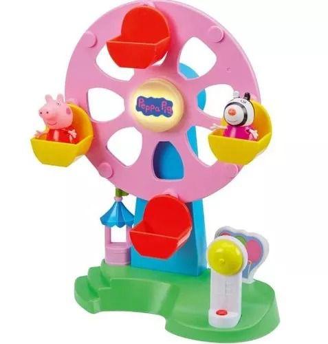 Peppa Pig Roda Gigante Com Luz e Som – 2 bonecos Peppa e Zoe- Dtc  - Doce Diversão