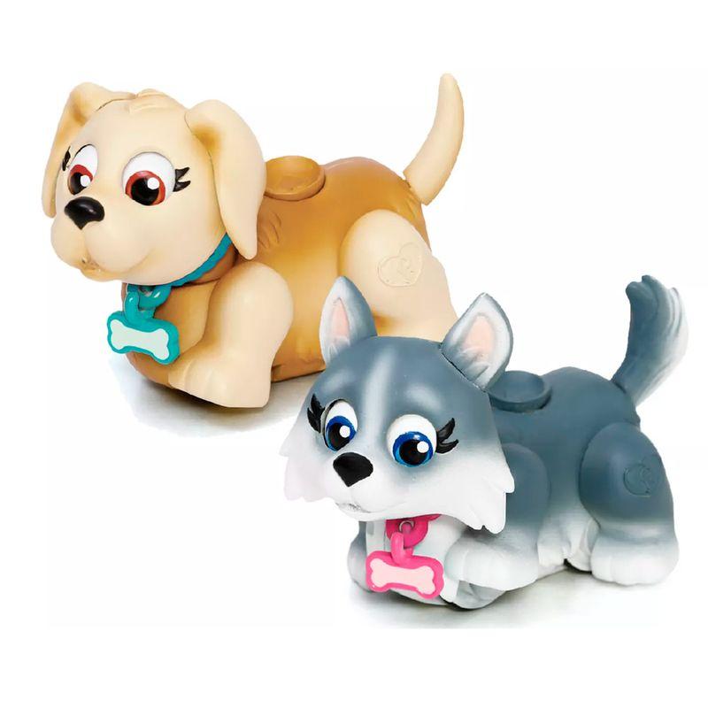 Pet Parade Blister com 2 – Cachorrinho Creme e Cinza - Multikids  - Doce Diversão