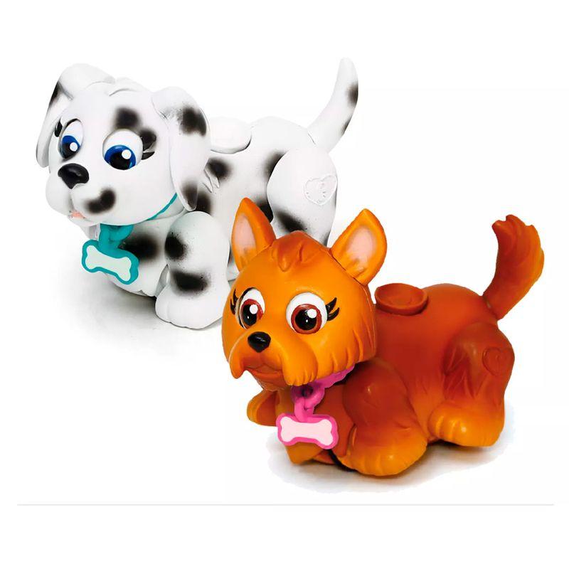 Pet Parade Blister com 2 – Cachorrinho Marrom e Pintado - Multikids  - Doce Diversão