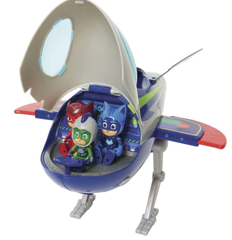 Pj Masks Foguete QG Aventura Lunar C/ luz e Som e Lagartixo Dtc   - Doce Diversão