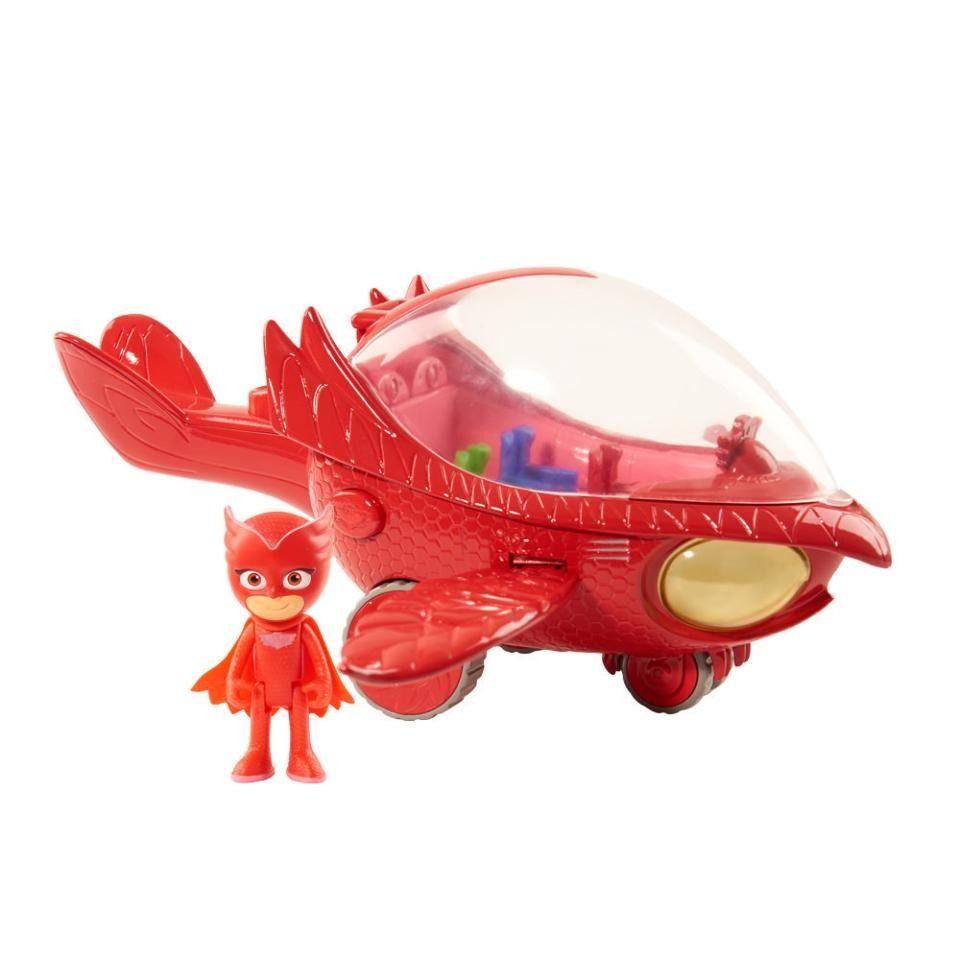 PJ Masks Veículo C/ Figura Planador Corujita Com luz e Som- Dtc  - Doce Diversão