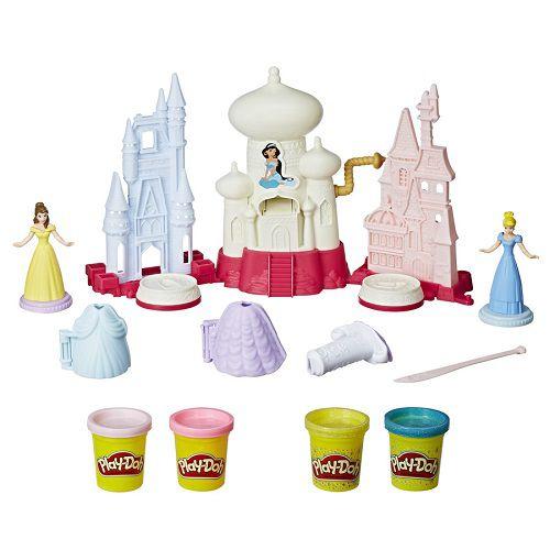 Play Doh Castelo Reino Brilhante Princesas Bela e Cinderela - Hasbro  - Doce Diversão