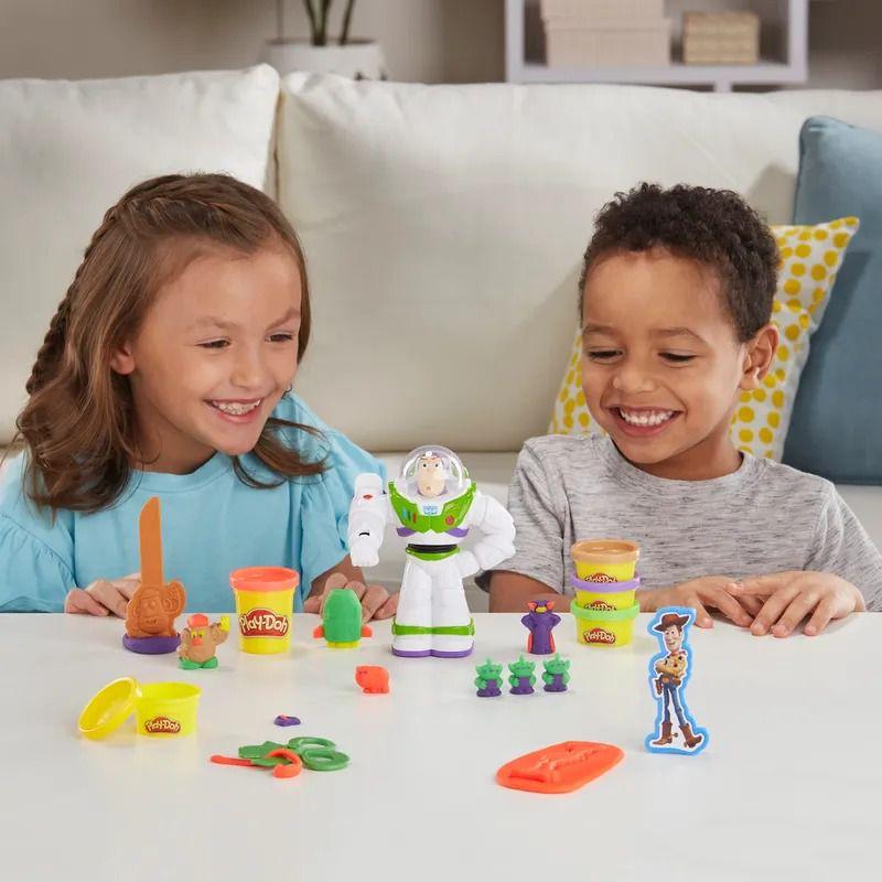 Play Doh  Disney - Toy Story 4 - Buzz Lightyear e Woody - Hasbro  - Doce Diversão