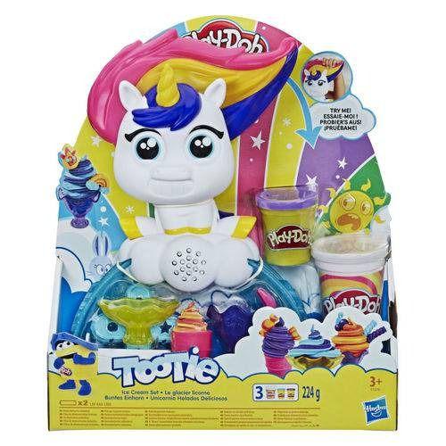 Play Doh Fabrica de Sorvetes - Conjunto Doce Com Unicórnio Com Som - Hasbro  - Doce Diversão