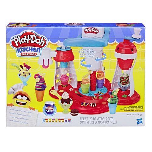 Play Doh Sorveteria Super Maquina de Sorvetes 2 em 1 - Hasbro  - Doce Diversão