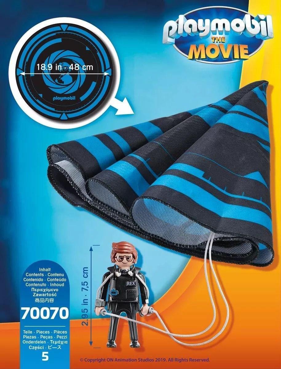 Playmobil 70070 O Filme - Rex Dasher Com Páraquedas - Sunny  - Doce Diversão