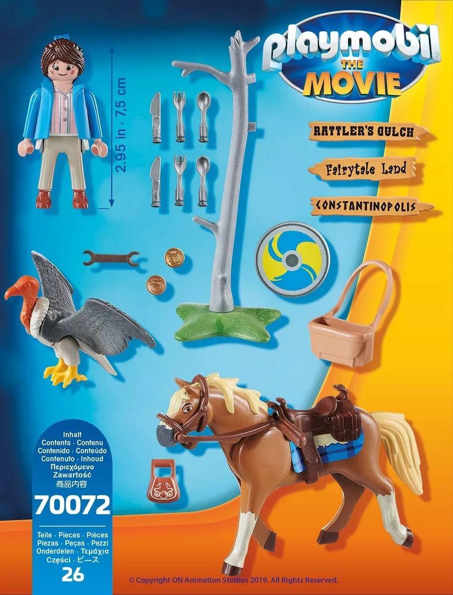 Playmobil 70072 O Filme - Marla Com Cavalo - Sunny  - Doce Diversão