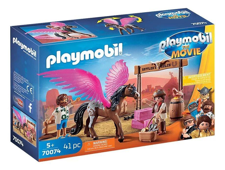 Playmobil 70074 O Filme - Marla e Del com Pegasus - Sunny  - Doce Diversão