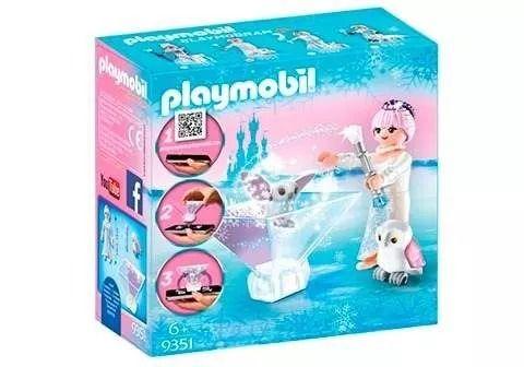 Playmobil 9351 - Princesa Flor no Gelo Com APP Playmogram 3D - Sunny  - Doce Diversão