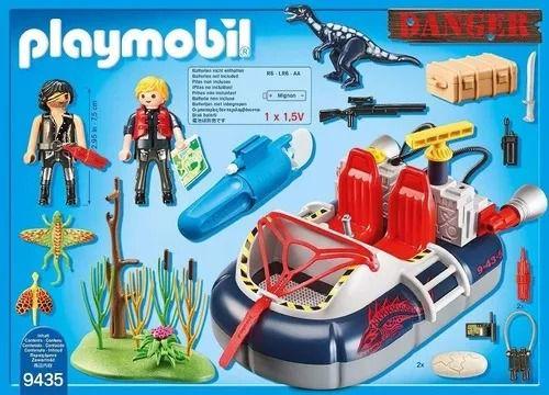 Playmobil Action Dino Hovercraft Flutua e Com Motor Subaquatico - Sunny  - Doce Diversão
