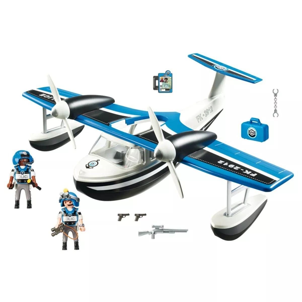 Playmobil Action Hidroavião De Policial 40 cm Sunny  - Doce Diversão