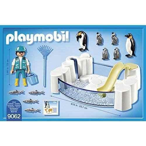 Playmobil Aquário Piscina Dos Pinguins Pinguinário   - Doce Diversão