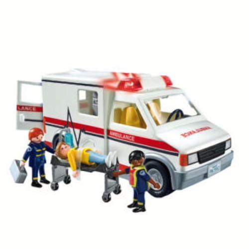 Playmobil City Action Ambulância Luz e Som Com 20 peças  - Doce Diversão