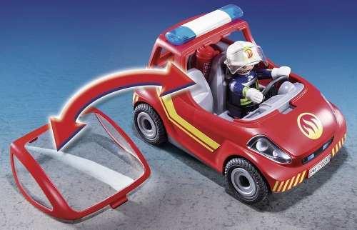 Playmobil City Action Bombeiro Com Carro    - Doce Diversão